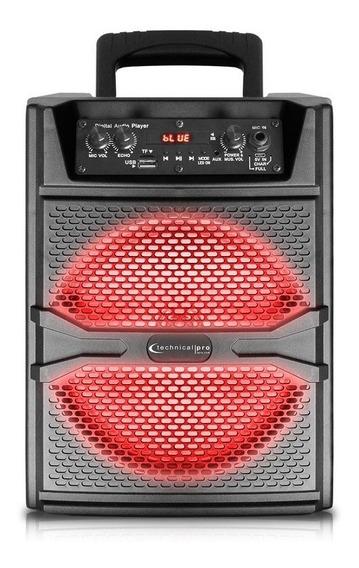 Corneta Led Technical Pro Woofer De 8pulg Bluetooth Tienda F