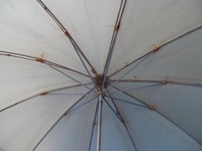 Guarda Chuva Sombrinha Cabo De Madeira E Chifre Anos 20 30