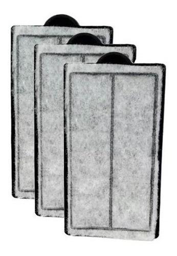 Imagem 1 de 1 de Refil Filtro Sunsun Hbl-701 Carvão Ativado - Kit Com 3 Refil