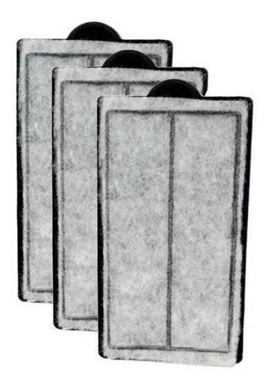 Refil Filtro Sunsun Hbl-701 Carvão Ativado - Kit Com 3 Refil