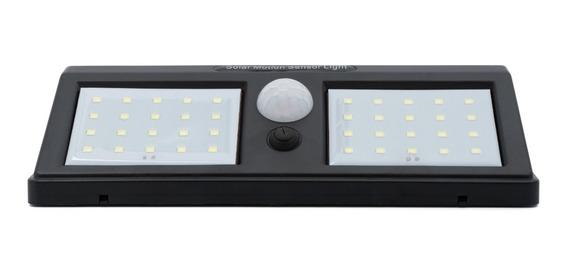 Luminária Led Arandela Solar 40 Leds 12w Sensor De Presença
