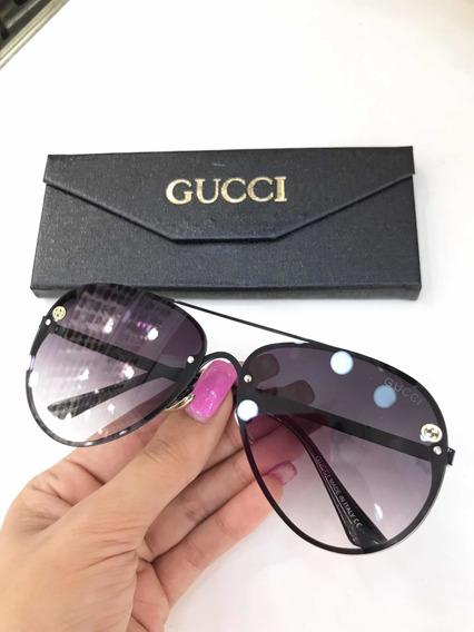 Óculos De Sol Gucci Aviador Feminino Metal