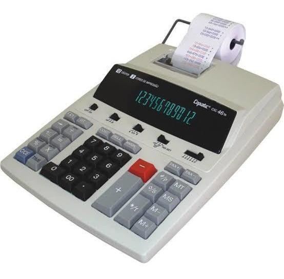 Calculadora Eletrônica Com Impressora Copiatic Cic 302
