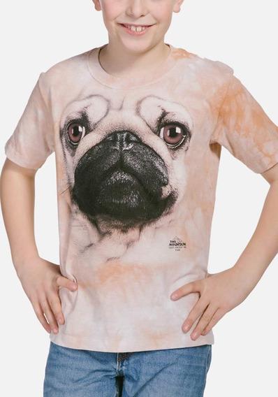 Playera 4d - Unisex Infantiles 15-3369 Pug Face