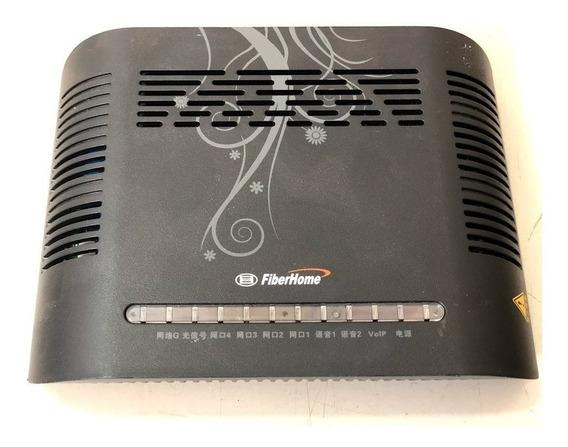 Onu Fibra Óptica Gpon An5506-04 Plus Fiberhome Preto C/fonte