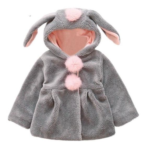 Abrigo Chamarra Calientita De Bebé Niña Modelo #3 Conejito 3