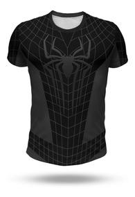 Remera Spiderman Negro Andrew Garfield, Hombre Araña