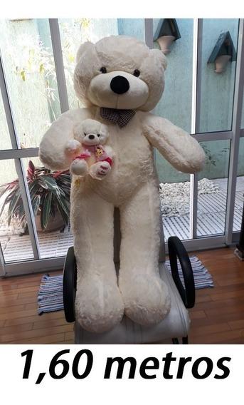 Mamãe Urso Creme 160cm Com Filhotinho 25 Cm - Casa Dos Ursos