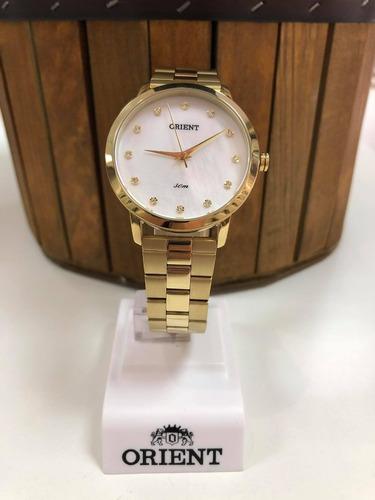 Relógio Feminino Orient Dourado Fgss0110 B1kx= 13
