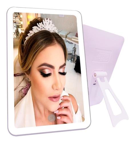 Espejo Luz Led Tactil Maquillaje Carga Usb Portable Touch