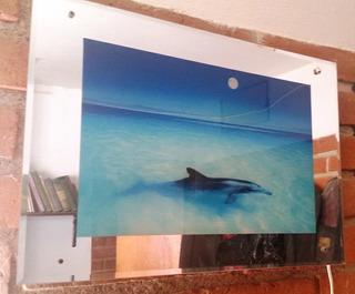 Arte En Espejo Antigüo C/ Luz Raro, En Hermosillo! $45.0000a