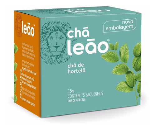 Chá Leão Ervas - Hortelã - 15 Sachês