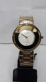 Relógio Feminino Original Atlantis Gold Redondo