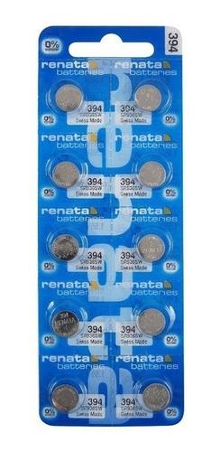Batería Pila Reloj Renata 394 Sr936sw 1.55v Pack X 10