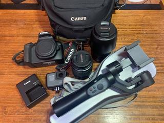 Cámara Fotográfica, Kit Grabación Semi Profesional