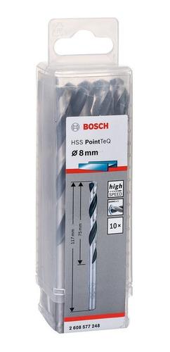 Broca Para Metal Hss 8,0 X 117 Mm 10 Peças 2608577248 Bosch