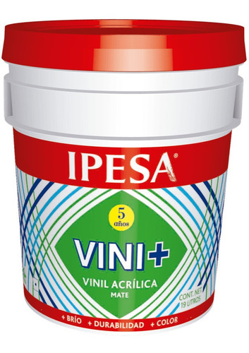 Imagen 1 de 2 de Galon De Pintura Vinilica Acrilica Lavable Vini+ Ipesa