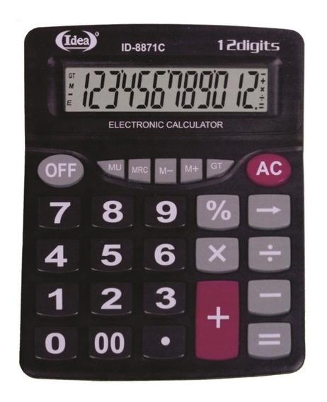 Calculadora De Mesa Comercial Escritório Display 12 Dígitos
