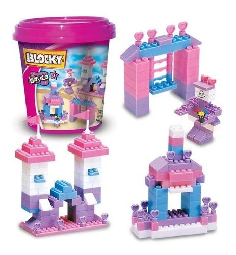 Blocky Balde Básico 3 Rosa 210 Piezas - Bloques Juguetes