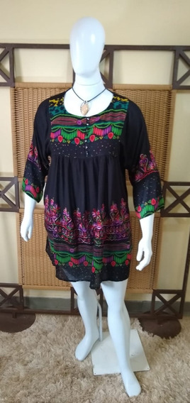 Vestido /bata /plus Size Moda Indiana C341
