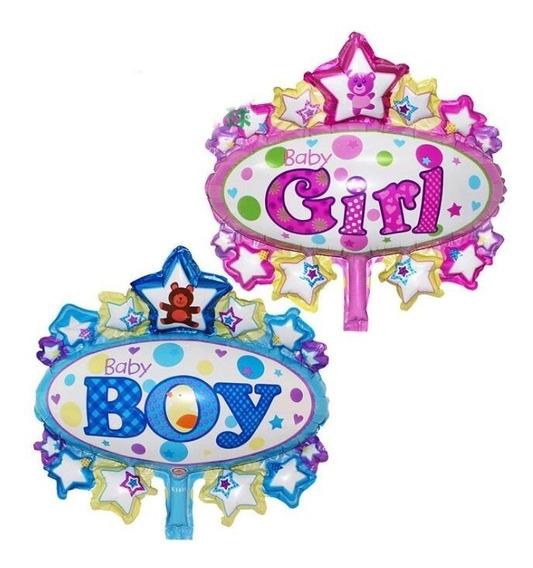 10 Globos Para Centros De Mesa De Baby Shower Niña,niño Var