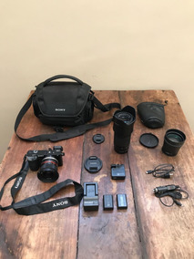 Câmera Sony ¿6000 + Lente 55/210mm + Lente Tele Conversora