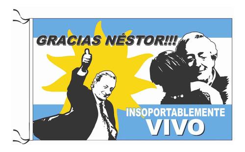 Bandera Néstor Kirchner Kirchnerista 90 X 150 Cm Peronista