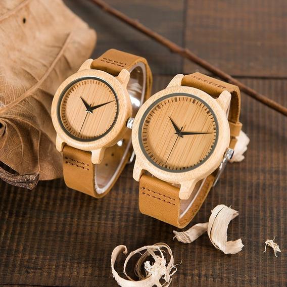 Relógio De Pulso Unissex Bambu Bobo Bird - Promoção