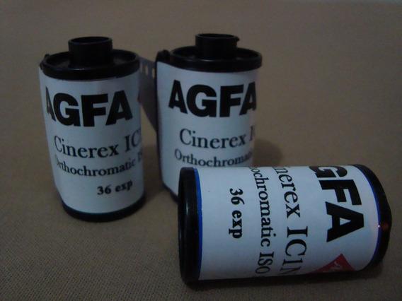 Filmes Agfa Cinerex 35mm Iso 50 36exp - Rebobinado