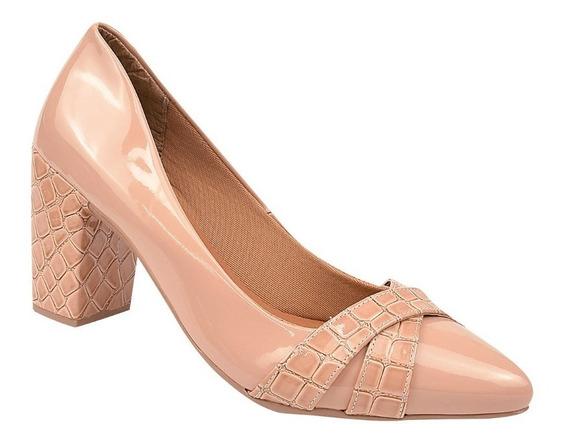 Sapato Feminino Scarpin Salto 6 Cm Rosa Chic (48-002)