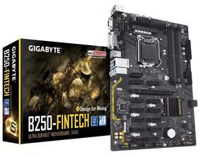 Placa Mãe S1151 Gigabyte B250-fintech Vga/ Usb/ Dvi/ Ddr4/