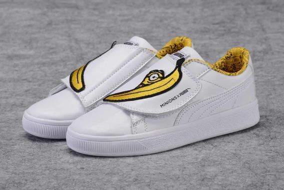 Tênis Kids Puma Shoes Importado Meninos Meninas