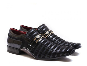Sapato Social Calvest Masculino Artesanal Couro Verniz Macio