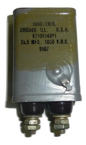 Capacitor En Aceite 2 X 0,5 Mf X 1000 V D C Made In U S A Nuevo