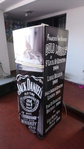 Vinilo Heladera Completa Jack Daniels .