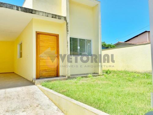 Casa Com 2 Dormitórios À Venda, 111 M² Por R$ 490.000,00 - Massaguaçu - Caraguatatuba/sp - Ca0504