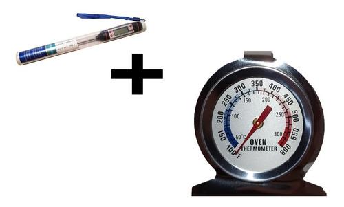 Combo Termometro Digital Cocina Chef Mas Termometro Horno
