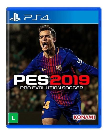 Jogo Pro Evolution Soccer Pes 2019 Mídia Física - Ps4