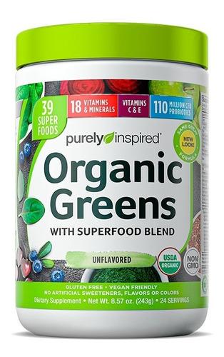 Imagen 1 de 2 de Super Alimento Y Multivitaminico Organic Greens 243gr