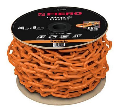 Cadena Plástica Naranja 8mm Fiero Precio X Mt