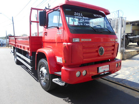 Vw 13.180 2011 Vermelha U.dono Itália Caminhões R4730
