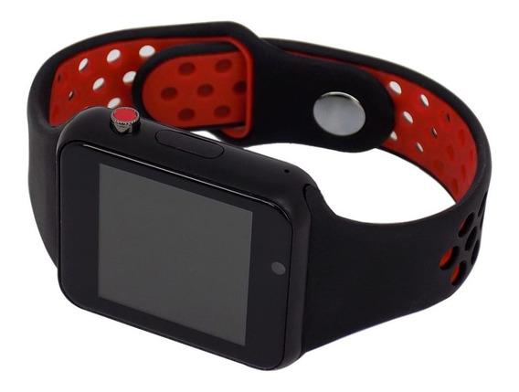 Relógio Smart Watch M3 Inteligente Usb Bluetooth Vermelho
