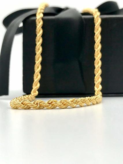 Cadena Oro 10k Torsal Hombre 60 Cm / 4.5 Mm Grosor
