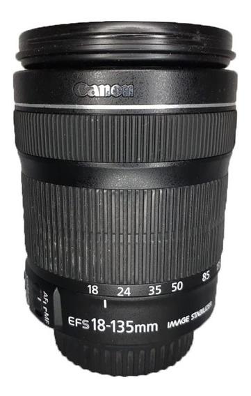 Lente Canon 18-135mm Ef-s Seminova Perfeita Impecável