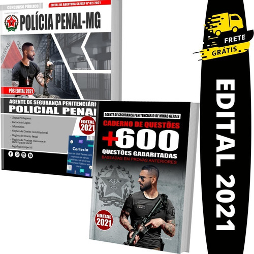 Imagem 1 de 6 de Kit Apostila Concurso Agepen Mg Policial Penal + Questões