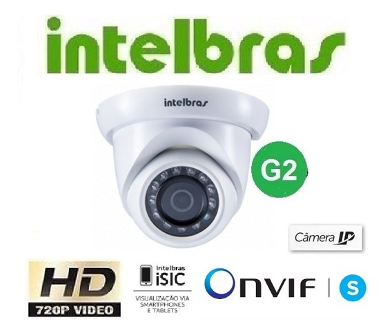 Câmera Intelbras Ip Vip S4020 G2 2,8mm Hd 720p Ir 20mts Poe