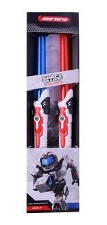 Espada Sable Luminoso X 2 Con Luz Y Sonido Simil Star Wars