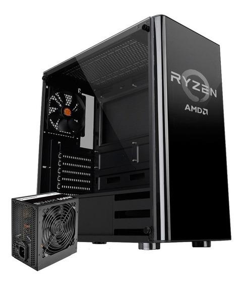 Gabinete Gamer Thermaltake V200 Ryzen Fuente 500w Mexx