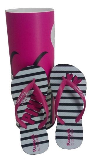 Chinelo Infantil Feminino Pampili Love Pink 100% Original