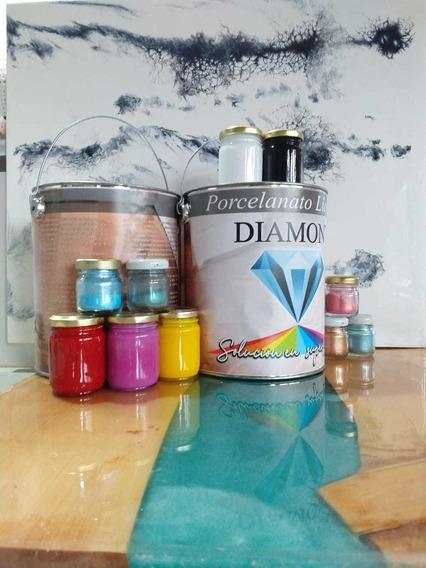 Combo Porcelanato Liquido+imprimación+color+alcohol Isoprop.